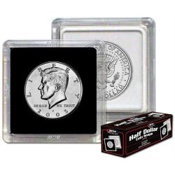 BCW 2x2 Snaplocks Half Dollar Size -- Box of 25