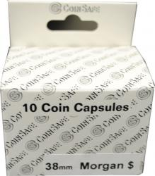 Coin Safe Capsule - Large Dollar Size - 10 pack