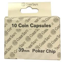 Coin Safe Capsule - Poker Chip Size - 10 pack