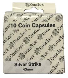 Coin Safe Capsule - Silver Strike Size - 10 pack