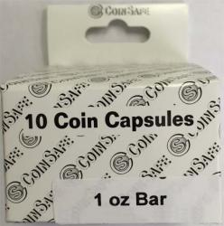 Coin Safe Capsule - 1 oz Bar Size - 10 pack