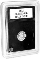 Coin World Premier Coin Holders -- 15.5 mm -- Half Dimes (1829-1873)