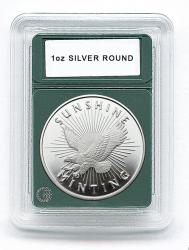 Coin World Premier Coin Holders -- 39 mm -- 1 oz Silver Rounds