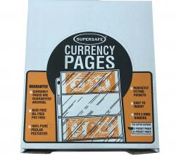 Supersafe Archival Pages -- 3 Pocket (Large Currency)