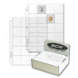 BCW Vinyl Pages -- 20 Pocket (2x2)
