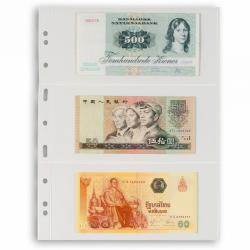 Lighthouse Grande 3C Archival 3 Clear Pocket (Large Currency) Pages - Pack of 5