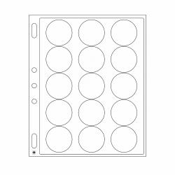 Lighthouse Grande Encap 44/45mm Capsule Pages (for Lighthouse 44-45mm Capsules or Air-Tite I Capsules) -- pack of 2