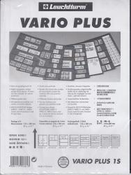 Lighthouse Vario Plus Pages -- 1 Pocket -- Pack of 5 -- Black