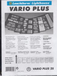 Lighthouse Vario Plus Pages -- 2 Rows -- Pack of 5 -- Black