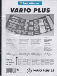Lighthouse Vario Plus Pages -- 3 Rows -- Pack of 5 -- Black