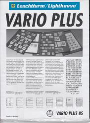 Lighthouse Vario Plus Pages -- 8 Rows -- Pack of 5 -- Black