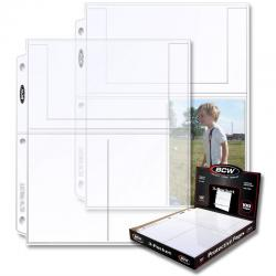 BCW Polypropylene Pages -- 3 4x6 Pockets