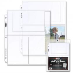BCW Polypropylene Pages -- 3 4x6 Pockets -- Pack of 20