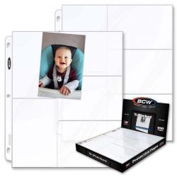 BCW Polypropylene Pages -- 5 Postcard/Photo Pockets