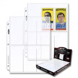 BCW Polypropylene Pages -- 6 Pockets for Trading Cards