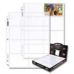 BCW Polypropylene Pages -- 8 Card Pockets
