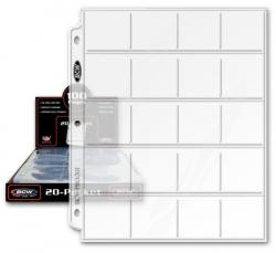 BCW Polypropylene Pages -- 20 2x2 Pockets