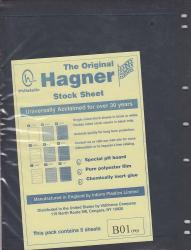 Hagner Stock Sheets -- Single Side, 1 Row -- Pack of 5