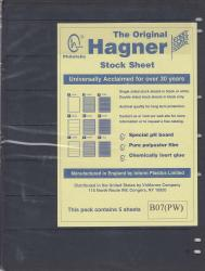Hagner Stock Sheets -- Single Side, 7 Row -- Pack of 5 -- Black
