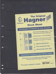 Hagner Stock Sheets -- Single Side, 3 Different Rows -- Pack of 5
