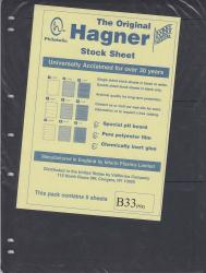 Hagner Stock Sheets -- Double Sided, 3 Row -- Pack of 5 -- Black