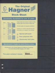 Hagner Stock Sheets -- Double Sided, 6 Row -- Pack of 5 -- Black