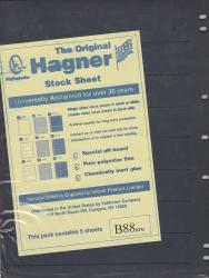 Hagner Stock Sheets -- Double Sided, 8 Row -- Pack of 5 -- Black