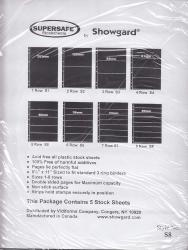 Showgard Supersafe Stock Sheets -- 8 Row