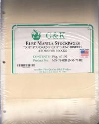 G&K Elbe Manila Stock Sheets -- 4 Rows for Blocks