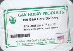 G&K Dealer Card Dividers -- 102 Size