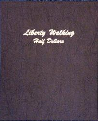 Dansco Album 7160: Liberty Walking Half Dollar, 1916-1947