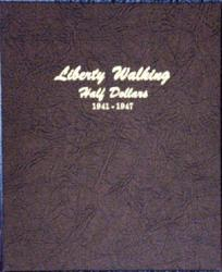 Dansco Album 7161: Liberty Walking Half Dollar, 1941-1947