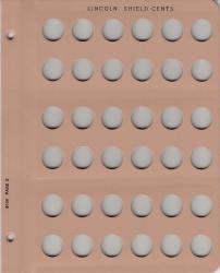 Dansco Replacement Page 8104-1: Lincoln Shield Cents w/ Proof (2010-P to 2021-S)