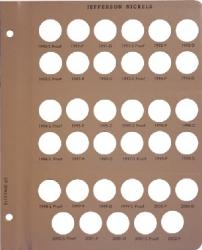 Dansco Replacement Page 8113-5: Jefferson Nickels w/ Proof (1990-S to 2002-P)