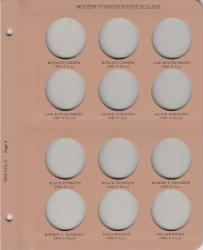 Dansco Replacement Page 7065 Vol 2-3: Modern Commemorative Dollars (1997-1999)