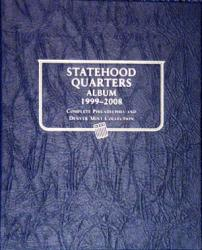 Whitman Album Statehood Quarters - P & D 1999-2008