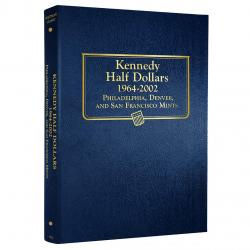 Whitman Album Kennedy Half Dollars 1964-2002