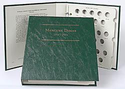 Littleton Album Mercury Dimes 1916-1945