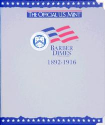US Mint Album Barber Dimes, 1892-1916