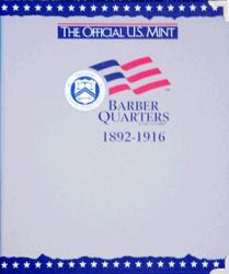 US Mint Album Barber Quarters, 1892-1916