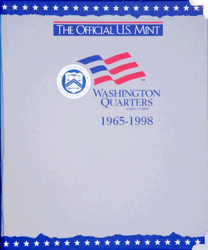 US Mint Album Washington Quarters, 1965-1998
