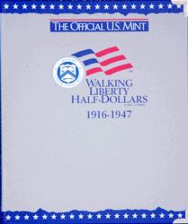 US Mint Album Walking Liberty Half Dollars, 1916-1947
