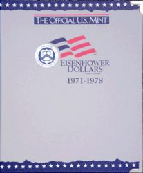 US Mint Album Eisenhower Dollars, 1971-1978