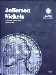 Whitman Folder 9009: Jefferson Nickels No. 1, 1938-1961