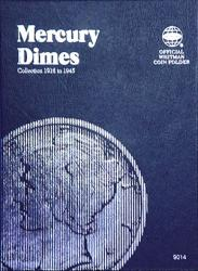 Whitman Folder 9014: Mercury Dimes, 1916-1945
