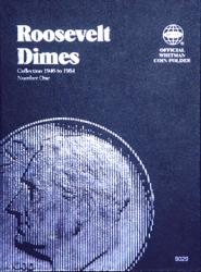 Whitman Folder 9029: Roosevelt Dimes No. 1, 1946-1964
