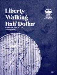 Whitman Folder 9021: Liberty Walking Half Dollars No. 1, 1916-1936
