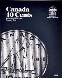 Whitman Folder 3203: Canadian 10 Cents Vol 2, 1937-1989