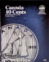 Whitman Folder 3204: Canadian 10 Cents Vol 3, 1990-Date