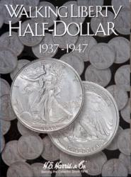 HE Harris Folder 2694: Walking Liberty Half Dollars No. 2, 1937-1947